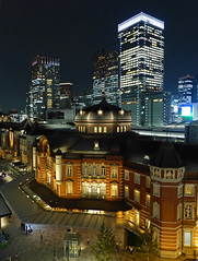 Tokyo Station (brentflynn76) Tags: tokyo japan station train city building architecture night lights travel