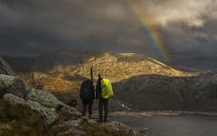 Hiking - D8F_9893 (Viggo Johansen) Tags: hiking mountains lake rainbow nilsebu nilsebuvatn rogaland rogalandturistforening nilsebuturistforeningshytte dnt stf