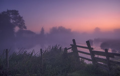 Barbed Mist (Captain Nikon) Tags: riversoar river zouch notts nottinghamshire serenity tranquility dawn sunrise cottage fence barbedwire pastels silhouettes reflections england uk greatbritain landscapephotography landscapes misty