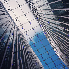 Blue & White (Olly Denton) Tags: up sky cloud blue decoration lights lighting buildings lines grid design modern architecture architecturelovers architecturephotography architecturalphotography iphone iphone6 6 vsco vscocam vscolondon vscouk ios apple mac shotoniphone victoria westminster london uk