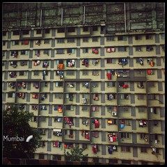 Mumbai Colours :) (Ragavendran / ♥Rags♥) Tags: iphonography mobileclick iphone6s india lifeiscolourful bridge commercialcapital metro cityscape city life appartment driers drying clothesclothingdry colourcolourful colours mumbai ragavendran