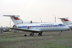 CCCP-87704 Yakovlev Yak-40 Aeroflot (pslg05896) Tags: akx uatt aktyubinsk aktobe kazakhstan cccp87704 yakovlev yak40 aeroflot