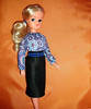 Sindy blouse & sheath skirt (skipscales) Tags: sindy pedigree 70s handmade ooak blouse sheath skirt felt blonde doll