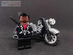 Lego Marvel Blade Minifig MOC DTB056 (downtheblocks) Tags: blade marvel lego minifig moc vampire superhero
