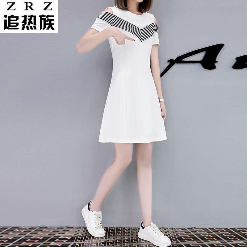 Strapless dress female 2017 new summer in the long slim thin black dress casual temperament a A-line dress code