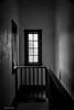Window at the End of the Hall (Kool Cats Photography over 9 Million Views) Tags: blackandwhite dark window banister artistic abstract