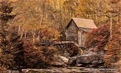 Glade Creek Grist Mill Impressionist (Thomas DeHoff) Tags: glade creek grist mill west viriginia topaz studio impression sony a700