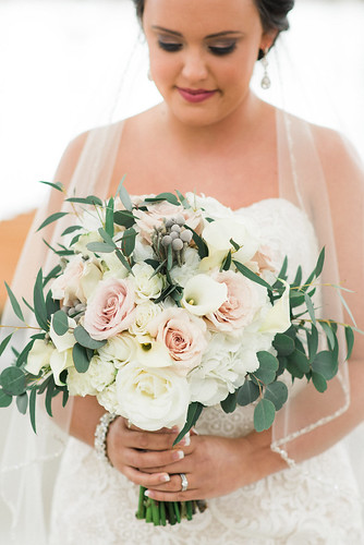 "Blush and White Bridal Bouquet by Unique Events • <a style=""font-size:0.8em;"" href=""http://www.flickr.com/photos/81396050@N06/37500276310/"" target=""_blank"">View on Flickr</a>"