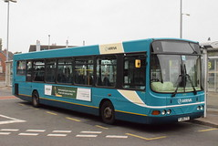AMN 3719 @ Cannock bus station (ianjpoole) Tags: arriva midlands vdl sb200 wright commander fj06zte 3719 the beastess brereton working route 60 cannock bus station lichfield