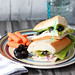 Turkey Sandwich with Salad and Black Olive