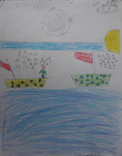"""dessin """"l'oiseau et l'enfant"""" (4)"""
