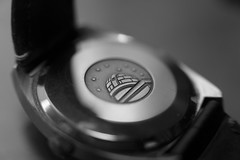 Watch (jporter17191) Tags: omega watch closeup bw blackandwhite monochrome omegaconstellation vintage automatic extension tube a6000 sony sigma 30mm f14