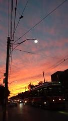 Sometimes it's Okay if the Streetcar Takes Awhile (Georgie_grrl) Tags: beautiful colourful clouds ttc kingstreetwest toronto ontario