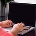 freelancer working laptop
