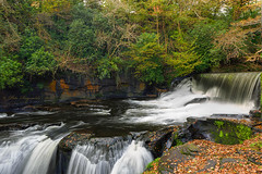 Aberdulais Falls (Pete 5D...©...) Tags: aberdulais falls tin mine south wales water flowing flow motion weir autumn autumnal