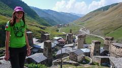 Ushguli i wieże z XIw. Monika. (Tomasz Bobrowski) Tags: wspinanie mountains gruzja kaukaz góry ushguli svaneti caucasus georgia climbing