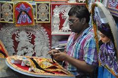 Decorative Art (gdebmalya) Tags: durga puja people night