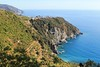 Looking back at Corniglia from the trail (My twin sister's photos) Tags: beachlife italianriviera cinqueterre hikeitaly