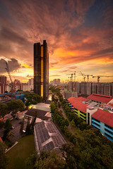 Commonwealth Towers (Scintt) Tags: singapore town city cityscape skyline skyscrapers condo condominium residences residential realestate property expensive exclusive freehold path lines textures lead sky dramatic epic orange golden glow sunset night evening dusk lights buildings architecture urban structure grass field green contrast tall scintillation scintt jonchiangphotography facade exterior housing apartments homes private road tree park mrt train nikon d850 1424mm landscape dynamicrange cranes construction clouds