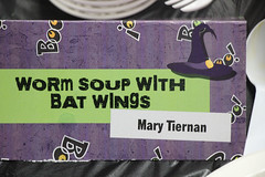 Worm Soup with Bat Wings thanks to Mary Tiernan one of our wonderful cooks.