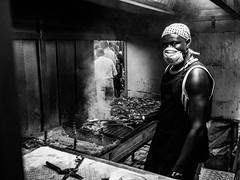 Grill man (Vitor Pina) Tags: street streetphotography scenes streets shadows night contrast monochrome man candid photography people pessoas pretoebranco portraits portrait photo urban urbano rua algarve algarvios city