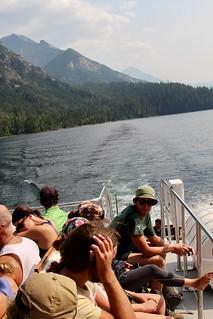 Cruising on the shuttle boat