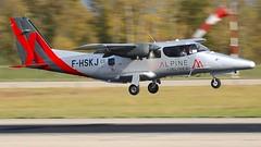 F-HSKJ (Breitling Jet Team) Tags: fhskj vulcanair ap68tp600 viator alpine airlines euroairport bsl mlh basel flughafen lfsb