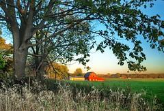 Red Barn / Evening Light (nelhiebelv) Tags: red barn farm evening sunset light michigan clintoncounty