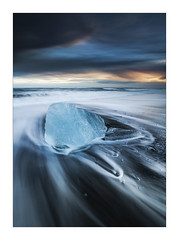 Cold Memories - in explore (Dave Fieldhouse Photography) Tags: iceland jokulsarlon beach ice theicebeach waves longexposure sand blacksand swooshery lines stormy 2014 canon canon5dmarkiii canon5dmark3 wwwdavefieldhousephotographycom