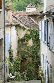 Village street, rural France