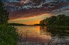 """""""Front line 2"""" (piotrekfil) Tags: nature landscape sunset sky clouds water reflections island summer dusk twilight pentax poland piotrfil"""