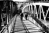 On the iron deck (pascalcolin1) Tags: paris hommes men pont bridge deck fer iron ombres shadows lumière light photoderue streetview urbanarte noiretblanc blackandwhite photopascalcolin 50mm canon play