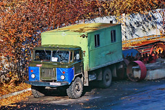 GAZ-66  У 214 BX 45 (RUS) (zauralec) Tags: курган улица грузовик автомобиль город газ gaz66 у 214 bx 45 rus kurgancity streetkurtamyshskaya