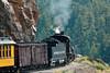 Rounding a rugged cliff R1004016 Durango & Silverton RR (Recliner) Tags: baldwin dsng drg