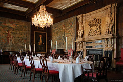 The Winter Dining Room (Can Pac Swire) Tags: hatfield house manor stately home hertfordshire england english great britain british uk unitedkingdom building jacobean architecture al9 interior inside 17th c 1600s 2016aimg1705 winter dining room chandelier tapestry