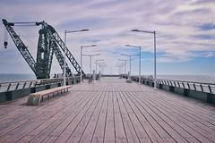 Viña del mar (GonzzzaloPV) Tags: pier muelle loneliness playa cielo viñadelmar valparaíso chile photography streetphotography clouds mirador sightseeing blue sony sonya6000