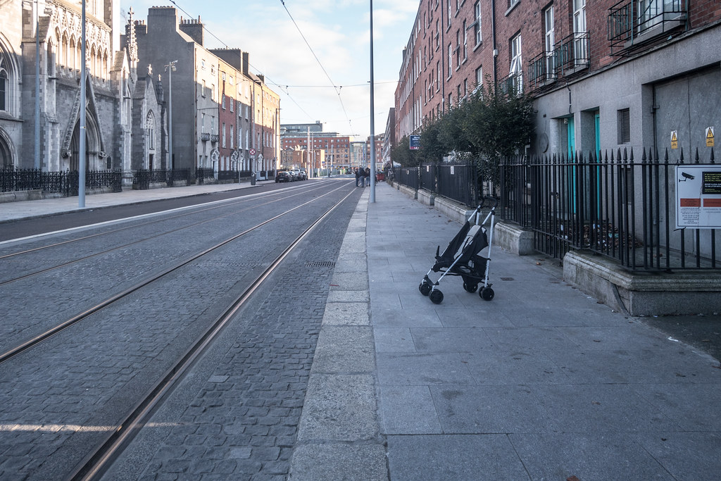 DOMINICK STREET BOTH SIDES OF THE TRACKS [THE NEW LUAS TRAM LINE]-133617