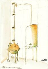 Eze, vieil alambic de la fabrique de parfum Fragonard (Croctoo) Tags: croctoo croctoofr croquis aquarelle eze côtedazur frenchriviera alambic parfum fragonard