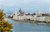 Hungarian Parliament (whistlah50) Tags: capital city budapest hungarian parliament donau water sky ship cloud autumn leaf panasonic dmcfz1000 fz1000 outdoor lumix hungary travel river