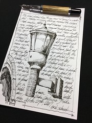 Lamp at Brittain Hall - Georgia Tech (schunky_monkey) Tags: lettering penandink ink pen fudepen fountainpen illustrator illustration art draw drawing sketching sketch cursive writing handwriting lighting lamp building architecture gothic campus georgiatech brittainhall