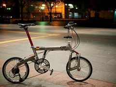 My Bike in the Night (somazeon) Tags: bike bicycle bd1 birdy foldable 自転車 lumix 25mm f17