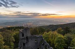 Chateau du Bernstein (Nu Mero) Tags: objet monument paysage chateaux coucherdesoleil bernstein leverdesoleil sunrise sunset dambachlaville grandest france fr