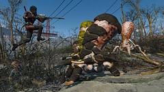 Fallout4 - Leaping into action ... (tend2it) Tags: fallout4 fallout 4 rpg game pc ps4 xbox screenshot screenarchery reshade postprocessing injector nuclear apocalyptic future cosmo squid ms abominations mod monster elize main character spraynpray nanosuit nukacola suit leap tentacle attack