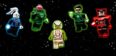 Green Lantern: The Animated Series (Andrew Cookston) Tags: lego dc comics blue red green lantern animated series hal jordan kilowog razer aya saint walker bruce timm 2011 photoshop custom minifig stilllife toy lighting nikon macro photography andrew cookston andrewcookston