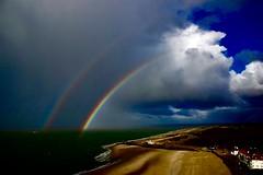 Moment of happiness..... (rienschrier) Tags: zeeland regenboog kleuren colors rainbow zee vlissingen