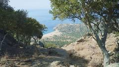 Plaja Pachia Ammos vazuta de pe munte
