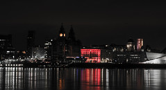 Liverpool (Lee1885) Tags: liverpool cityscape bw woodside birkenhead wirral water mersey liverbuilding lights dark