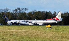 HB-IZP SAAB 2000 & PH-FCI JETSTREAM NEWCASTLE (toowoomba surfer) Tags: airline airliner aviation aircraft aeroplane ncl egnt
