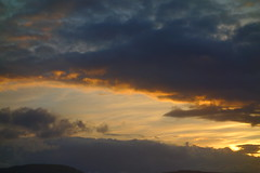 Sunset Lining (Dave Roberts3) Tags: wales gwent newport clouds orange blue evening dusk