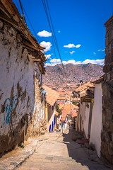 Steep Cusco streets.